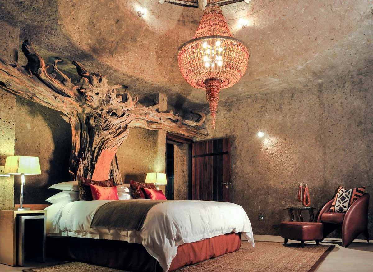 Earth lodge photo gallery luxury safari lodge for Bedroom designs south africa