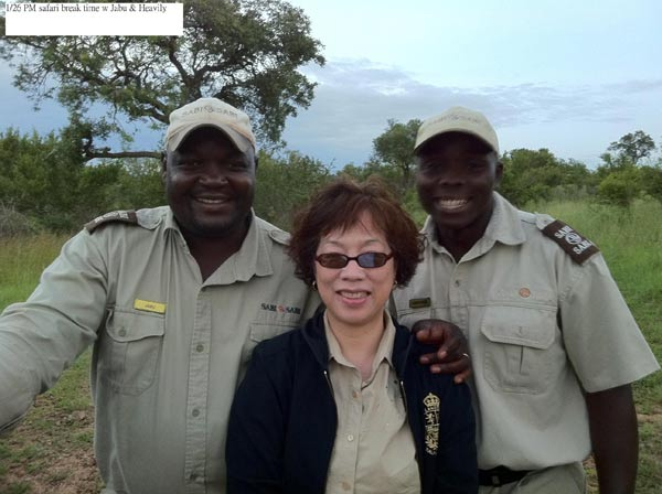 sabi sabi guest with safari rangers