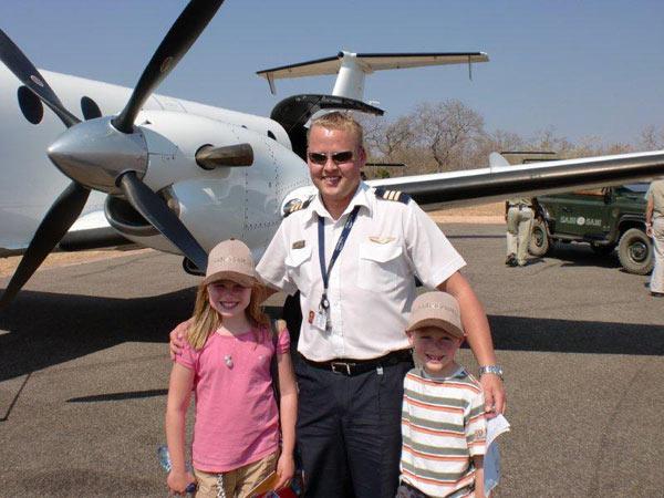 guests with ranger while on safari at Sabi Sabi