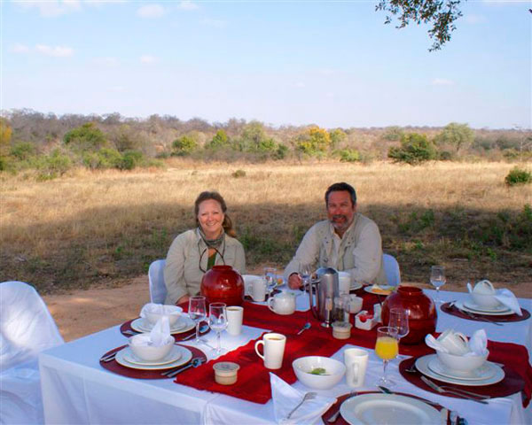 safari breakfast at Sabi Sabi