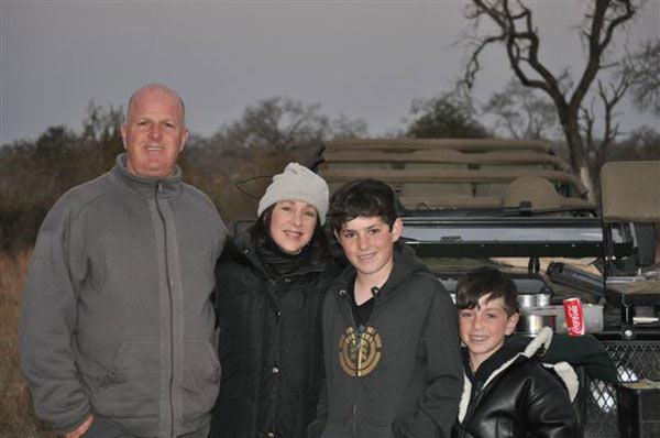 Meyer family on safari at Sabi Sabi Private Game Reserve