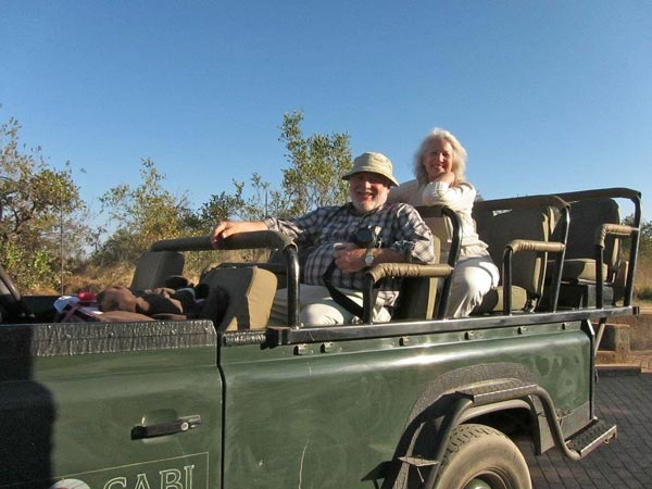 safari guests at earth lodge