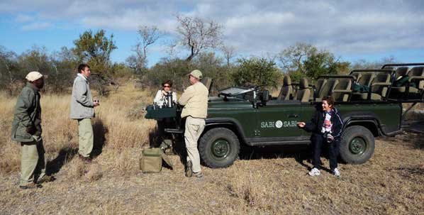 guests on safari game drive