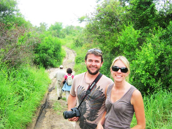 Rob And Barbara Twine on safari at Sabi Sabi