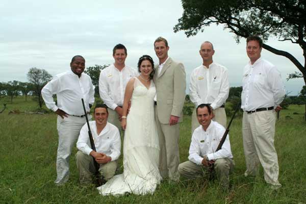 stephan and chantelle greeff at their wedding sabi sabi